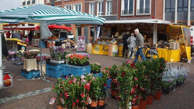 Winkelen op de markt