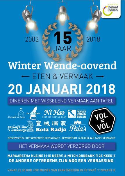 Winter Wende-aovend 2018, als vanouds gezellig